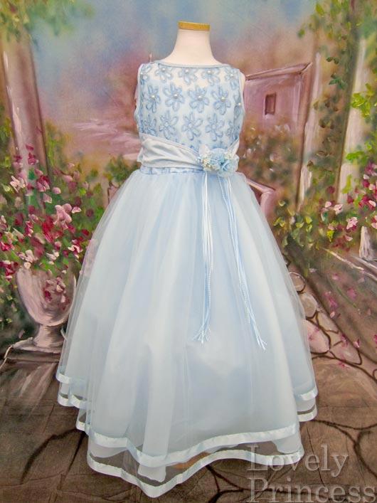 子供ドレス パステル ブルー2