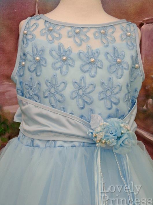 子供ドレス パステル ブルー3