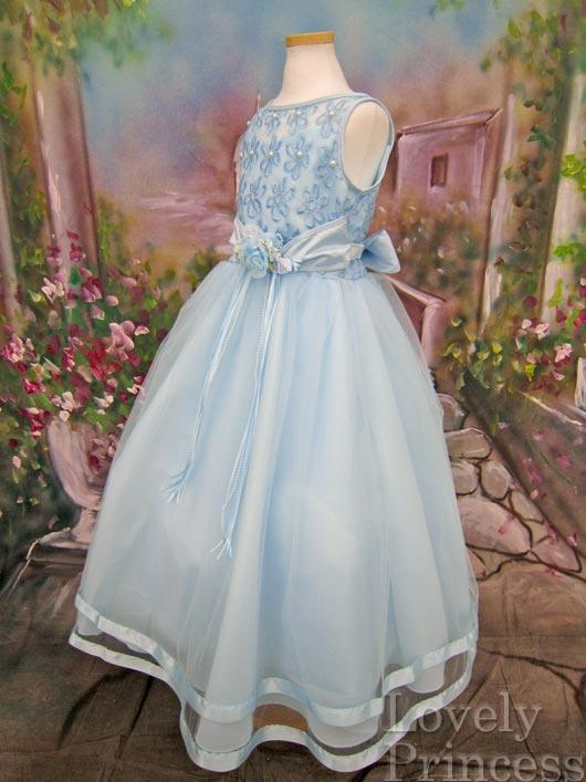 子供ドレス パステル ブルー5