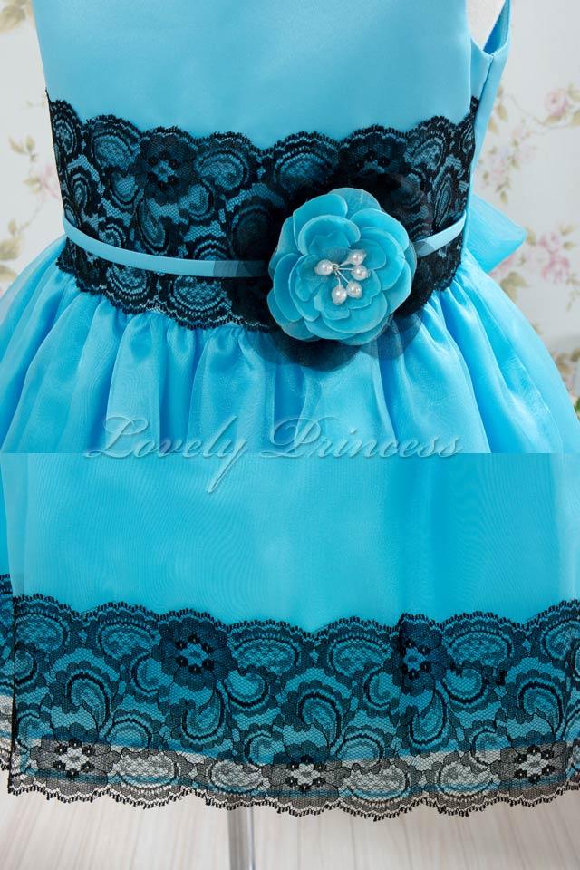 結婚式子供ドレス リンジー アクアブルー