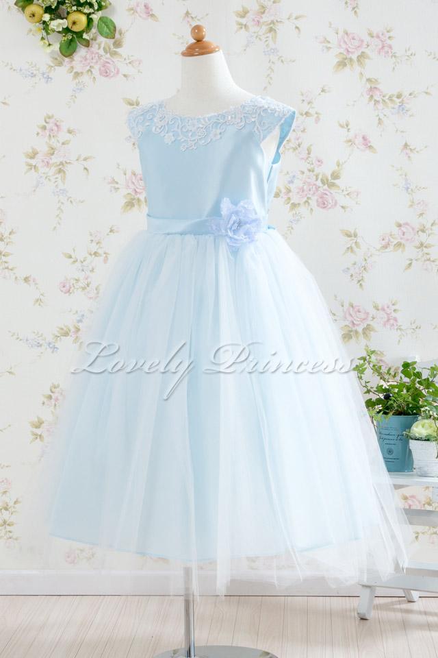 結婚式子供ドレス フェイス ブルー