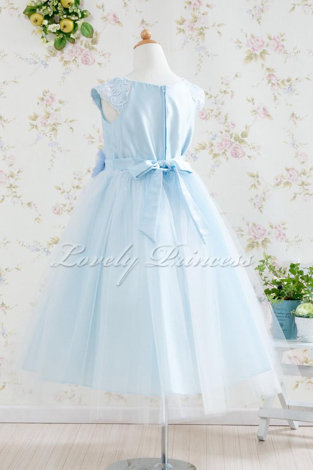 コンクール子供ドレス フェイス ブルー