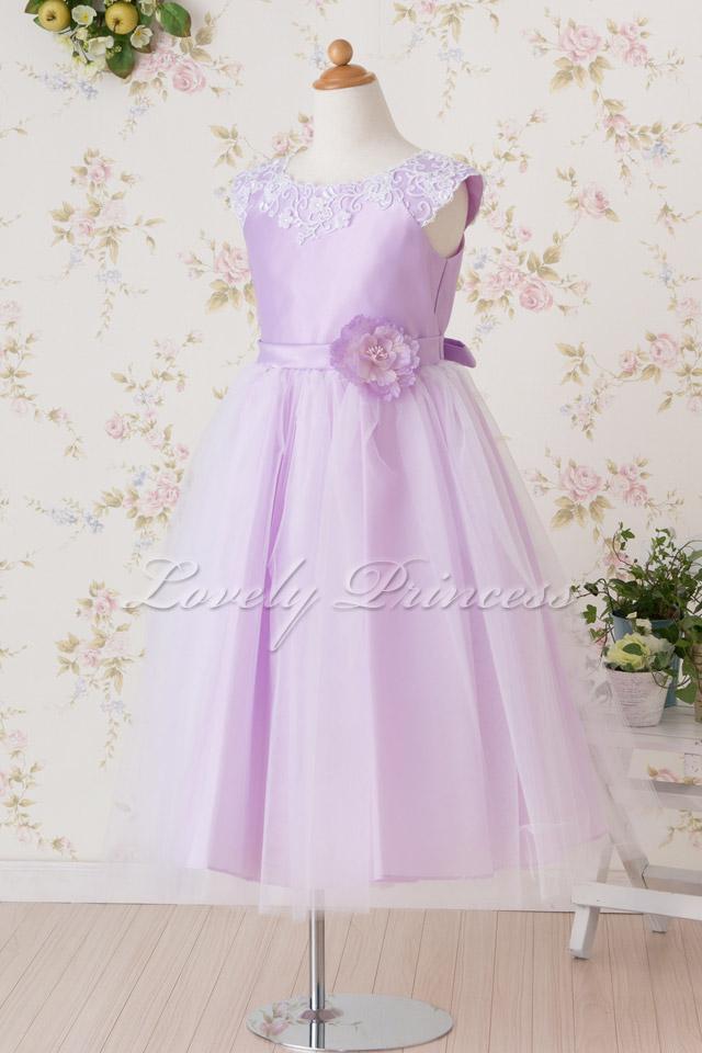 結婚式子供ドレス フェイス ライラック