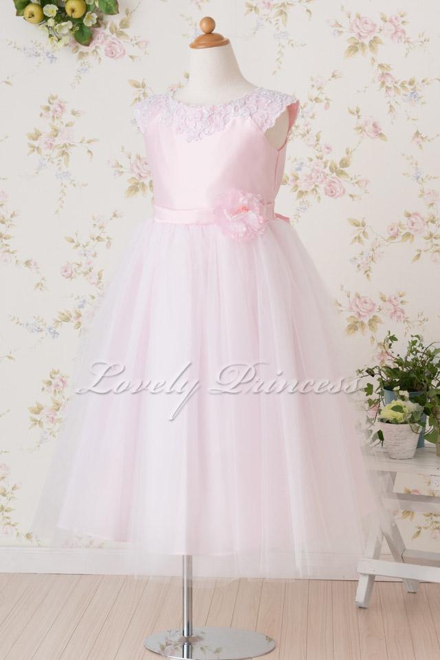 結婚式子供ドレス フェイス ピンク