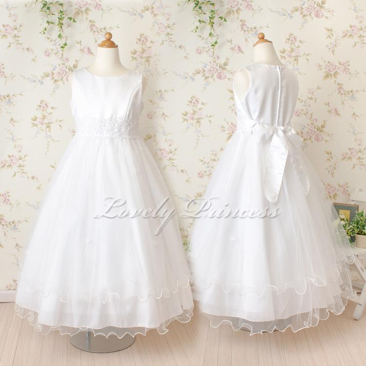 子供ドレス クララ ホワイト モデル