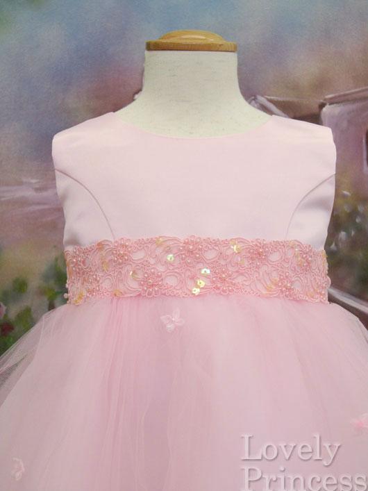 ベビードレス クララ ピンク