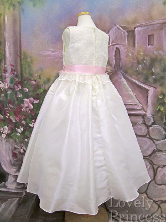 子供ドレス フローラ アイボリーピンク
