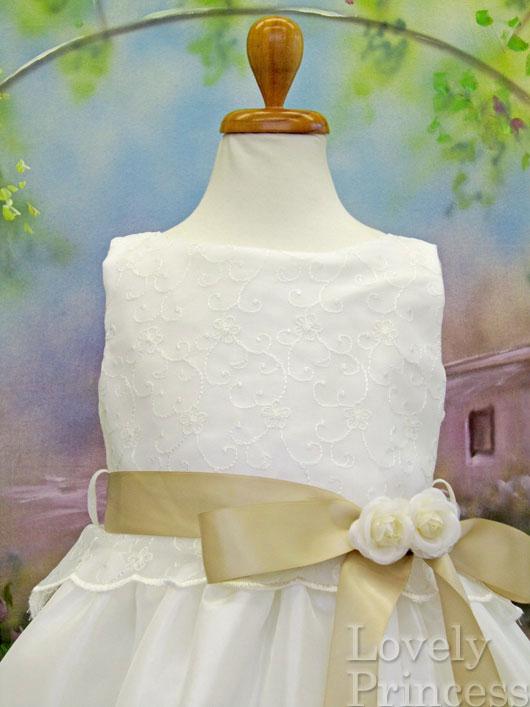 子供ドレス フローラ アイボリーシャンパン