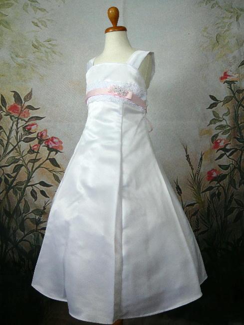 子供ドレス アンジェリカ ホワイト/ピンク