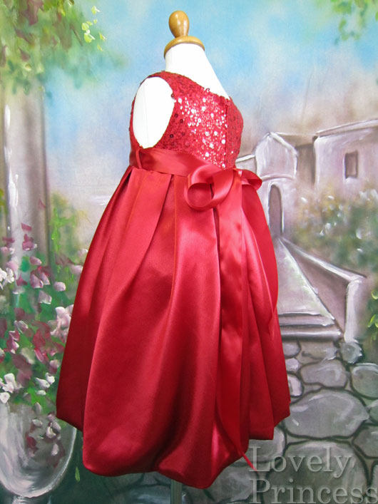 子供ドレス チェルシー レッド