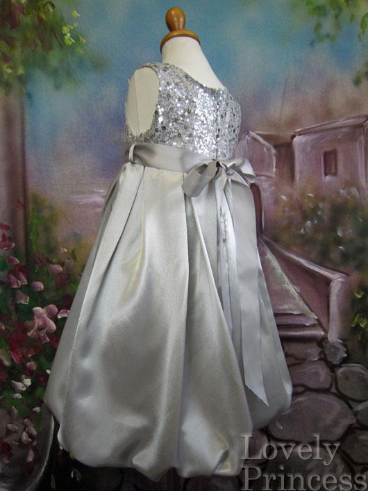 子供ドレス チェルシー シルバー