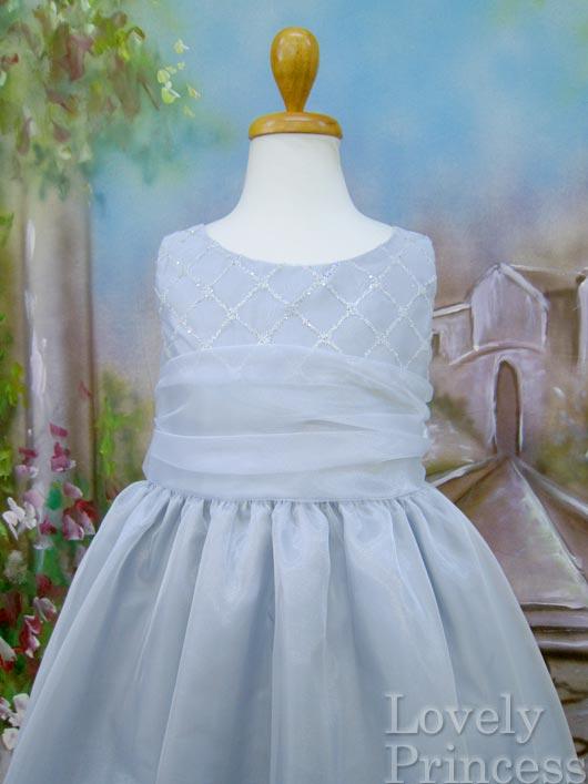 子供用ドレス アリサ シルバー