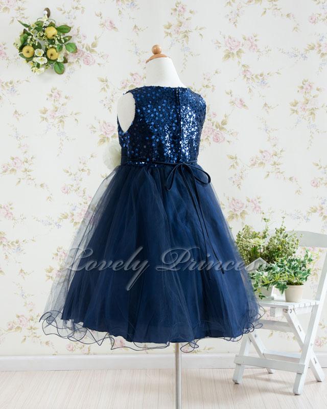 結婚式子供用ドレス アニー ネイビー