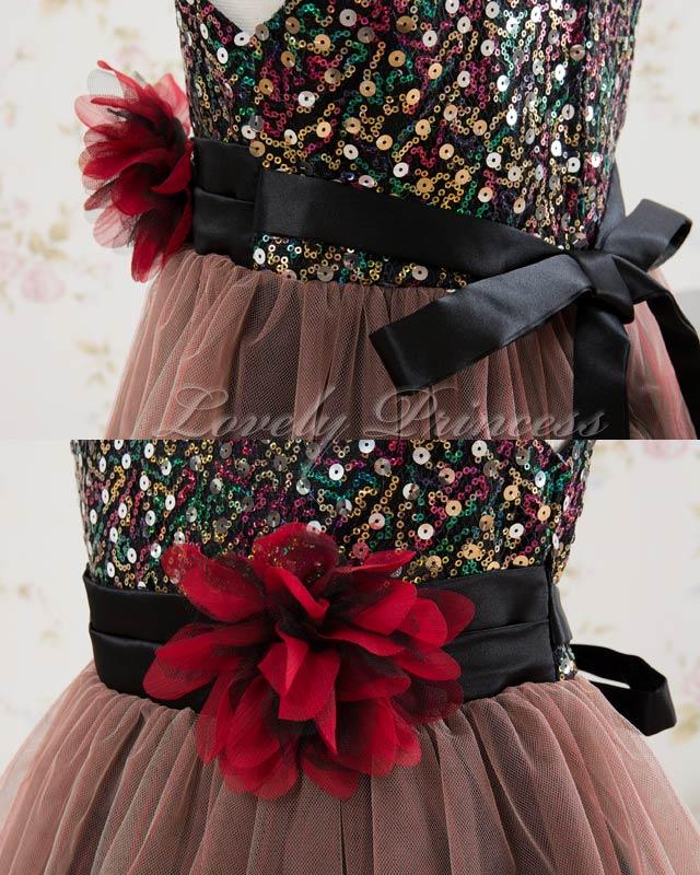 結婚式 子供ドレス キャシー ブラックレッド