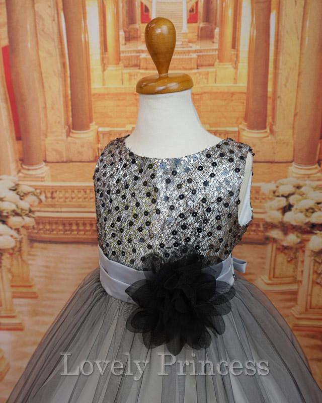 結婚式子供用ドレス キャシー シルバー
