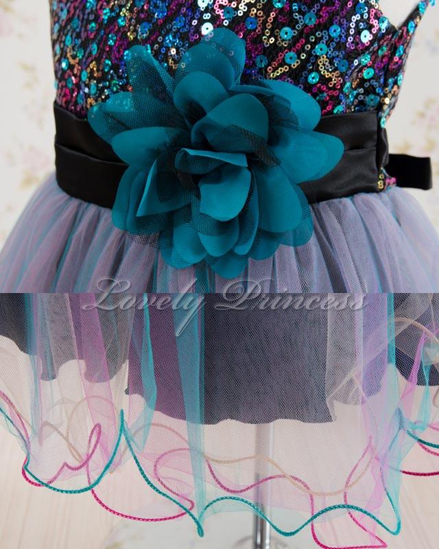 結婚式子供用ドレス キャシー ブラックアクア