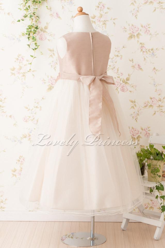 結婚式子供ドレス ベルモント アイボリー/ローズピンク