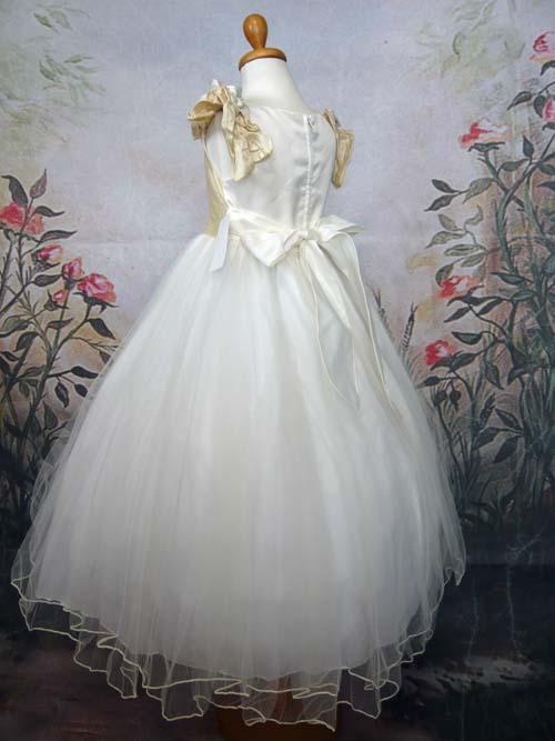 子供ドレス アマンダ アイボリー/ゴールド