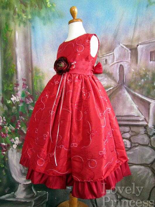子供ドレス ルビー レッド
