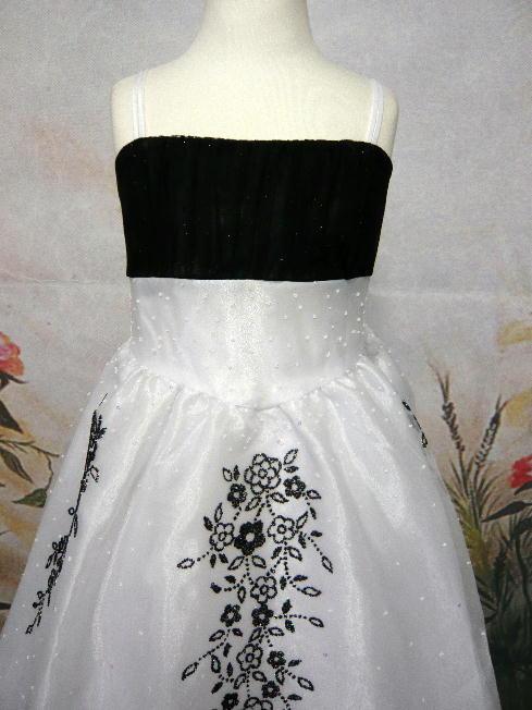 子供ドレス ビクトリア ホワイト/ブラック