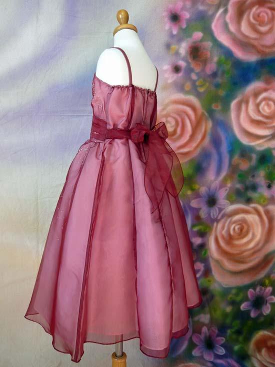 子供ドレス ミーシャ バーガンディ