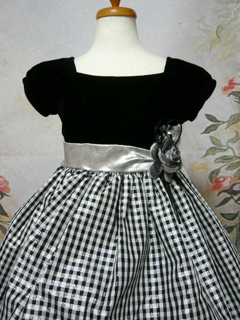 子供ドレス ケティ ブラック/シルバー