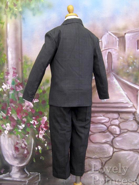子供用スーツ・5点セット ダークグレー(LC3710)