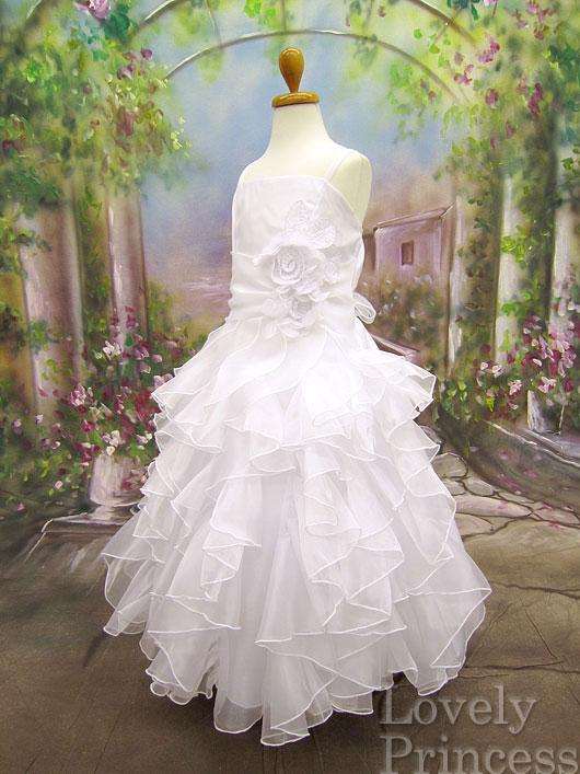 子供ドレス シャーロット ホワイト