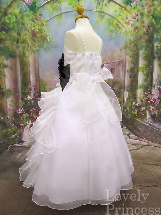 子供ドレス シャーロット ホワイトブラック