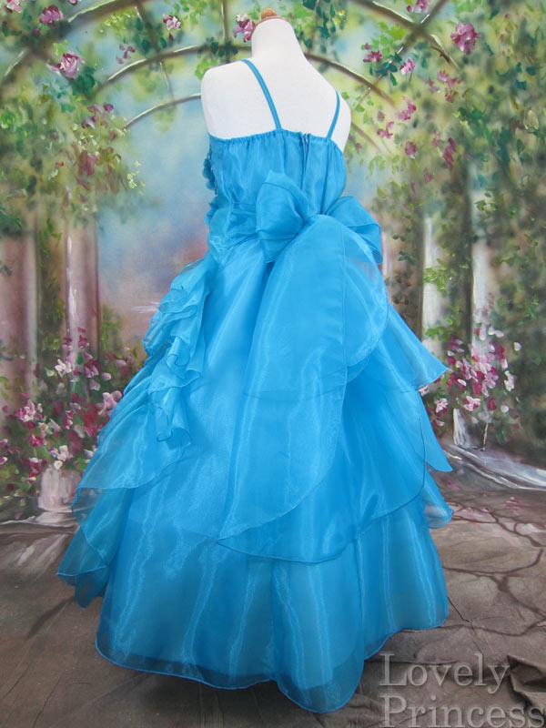 子供ドレス シャーロット アクアブルー