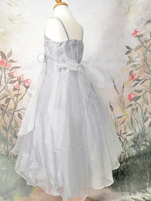 子供ドレス ロゼリア シルバー
