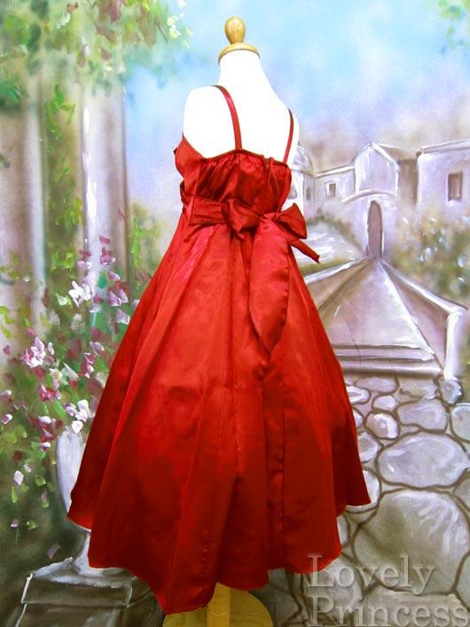 子供ドレス ジャネット レッド