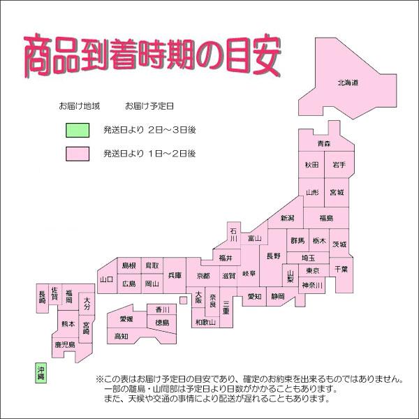 お届け予定日案内地図