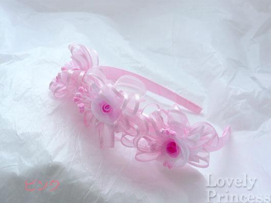 トリプルカチューシャ ピンク