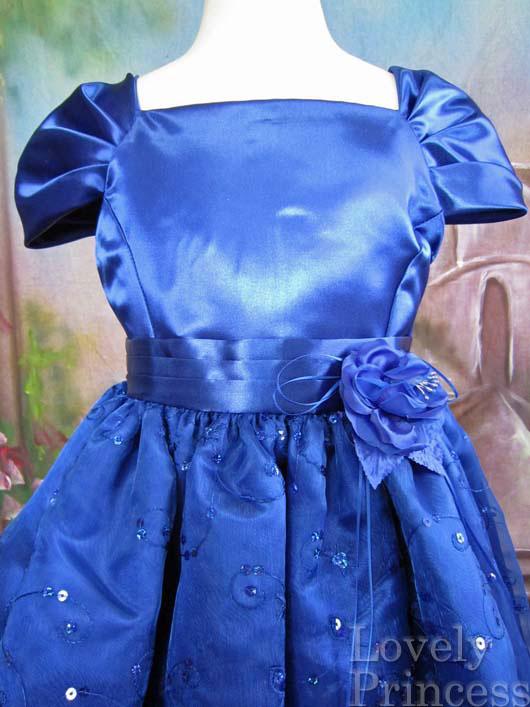 子供ドレス フィオナ ロイヤルブルー