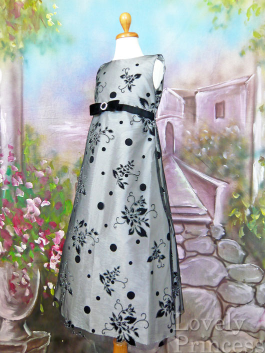 子供ドレス フィル シルバー