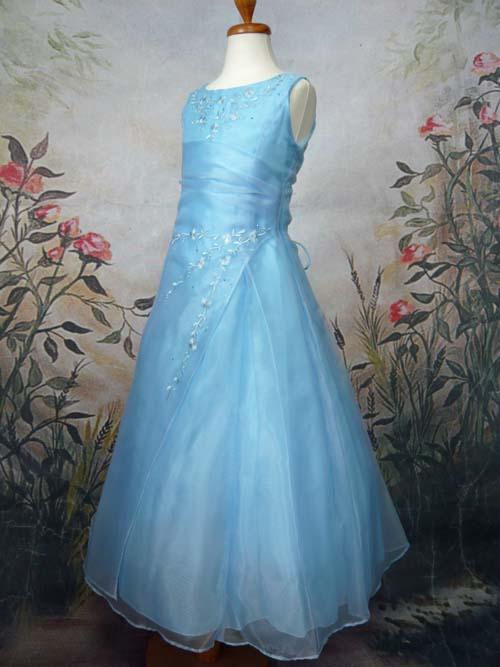 子供ドレス ジョゼフィーヌ ブルー