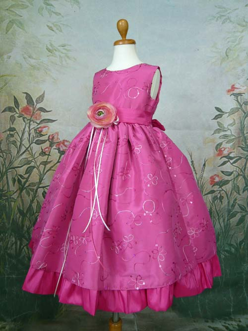 子供ドレス ルビー フューシャ