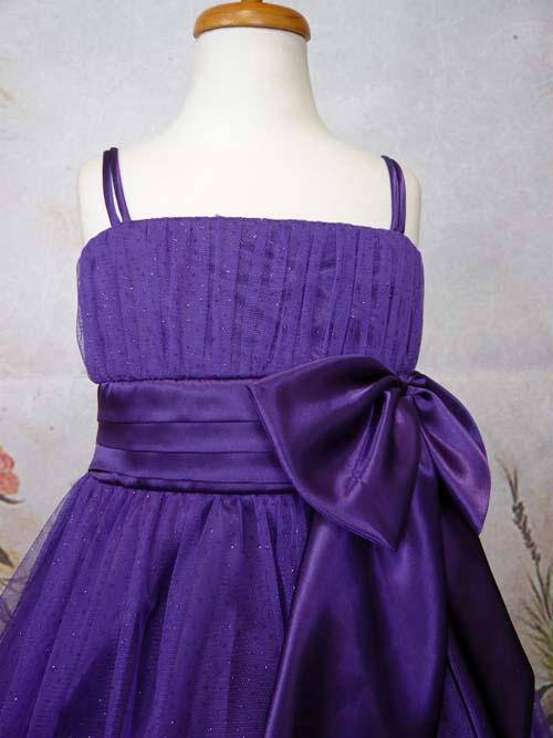 子供ドレス ミリア ダークパープル