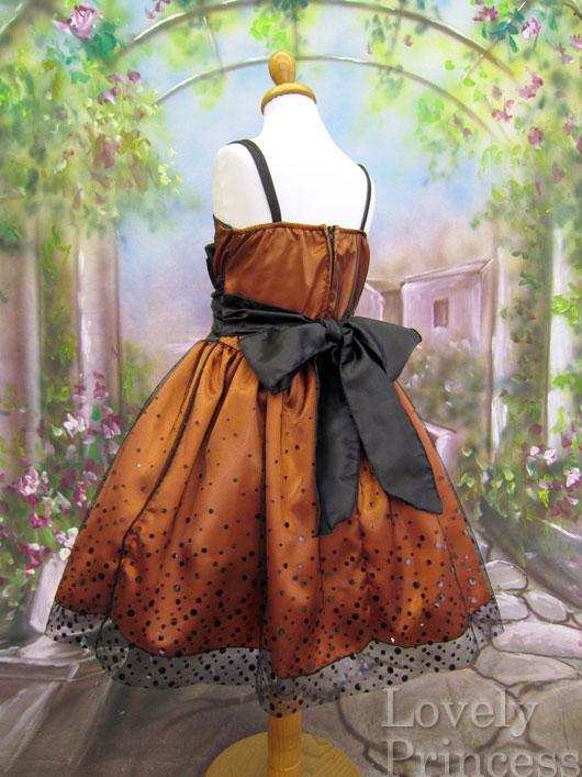 子供ドレス セリーヌ オレンジ