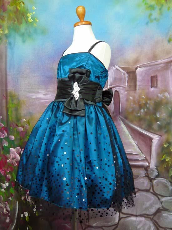 子供ドレス セリーヌ ティール