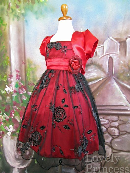 艶やか子供ドレス オーレリア レッド