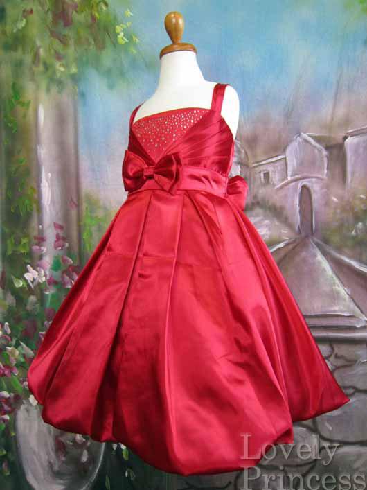 子供ドレス カレン レッド
