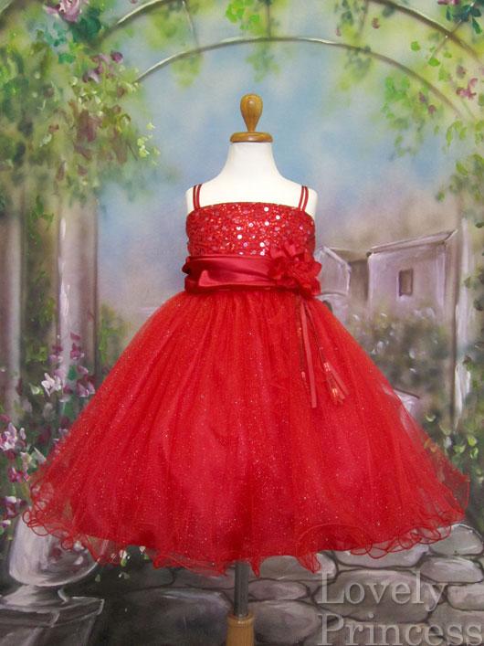 子供ドレス エチュード レッド