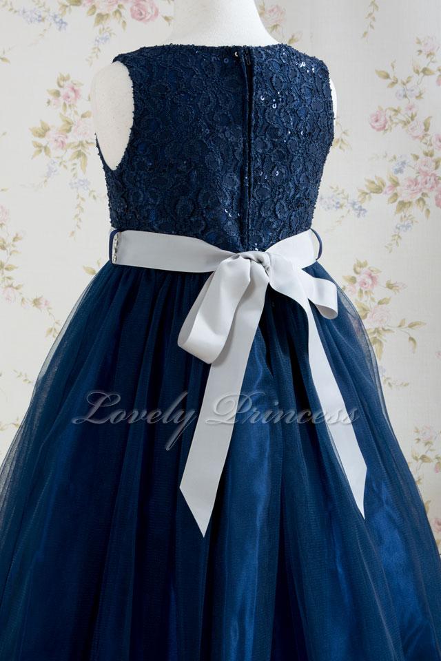 結婚式子供ドレス リアン ネイビー