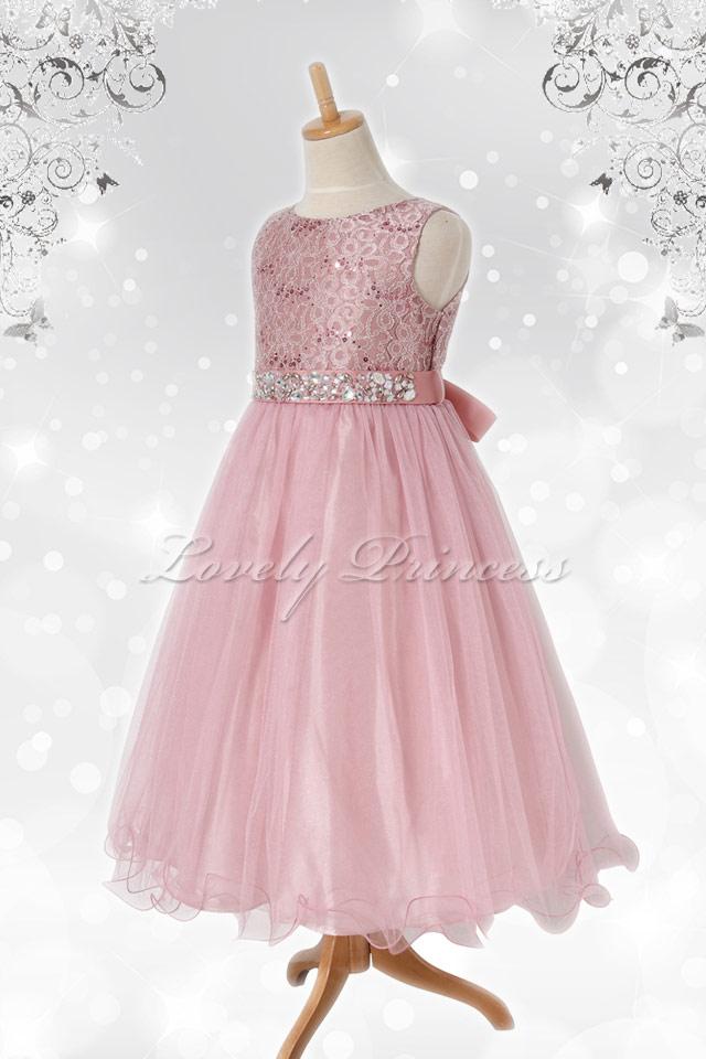 結婚式子どもドレス レティシア ローズピンク