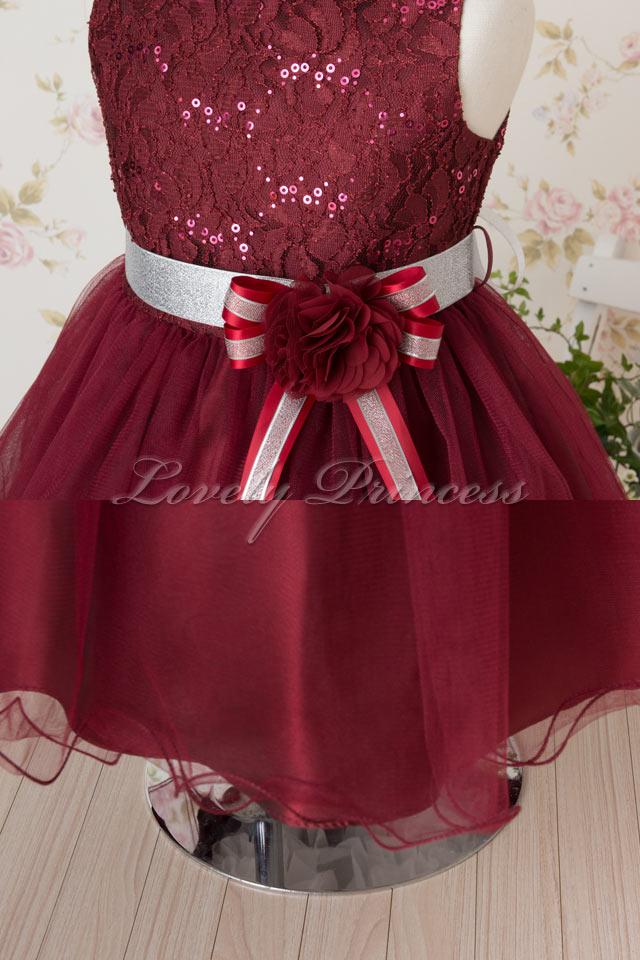 結婚式子供ドレス ファンティーヌ バーガンディ