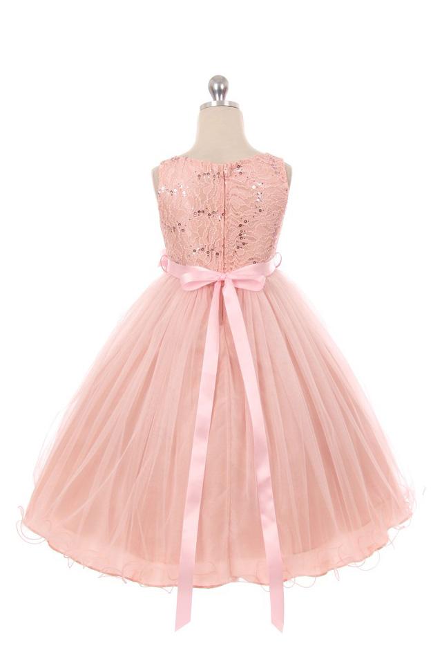 結婚式 子供ドレス アプリコット