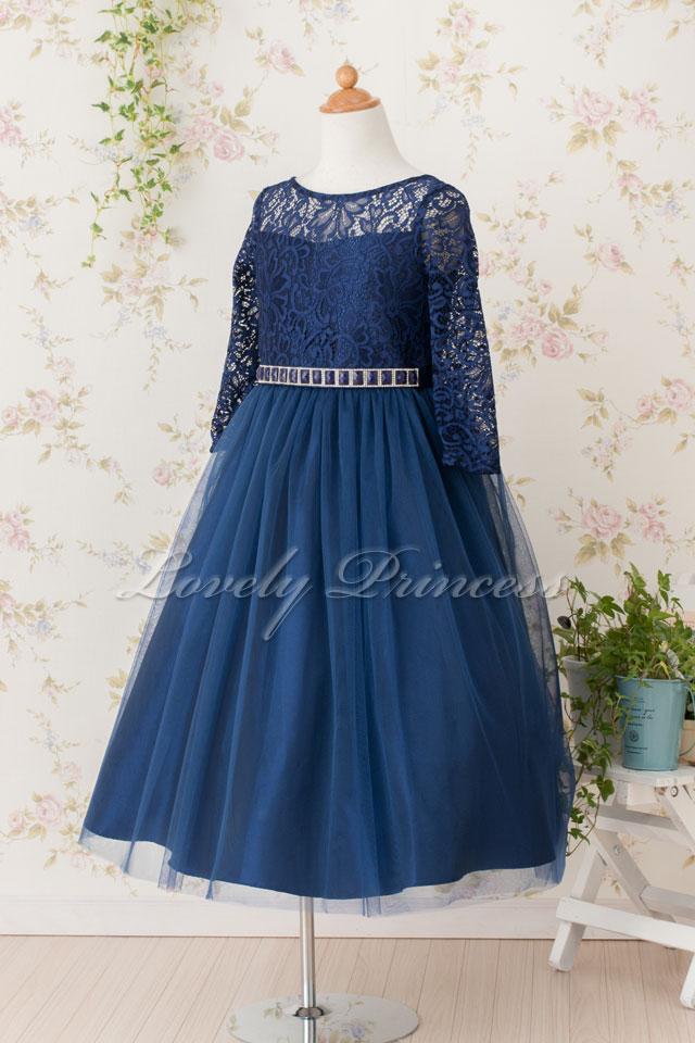 結婚式子供ドレス マーガレット ネイビー
