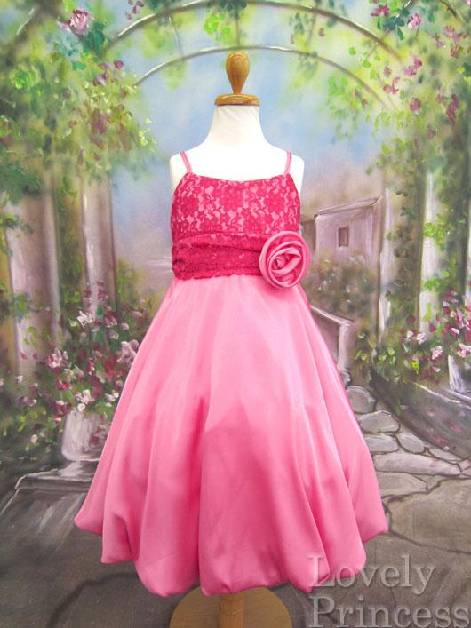 子供ドレス クリステル フューシャ